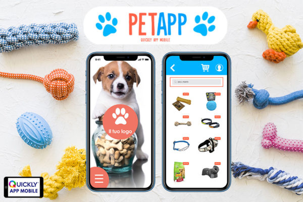 petapp applicazione negozio di animali